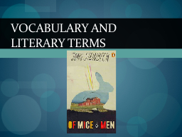 Vocabulary and literary PowerPoint PPT Presentation