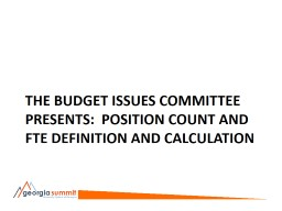 The Budget Issues Committee Presents: PowerPoint PPT Presentation
