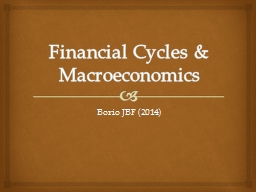 Financial Cycles & Macroeconomics