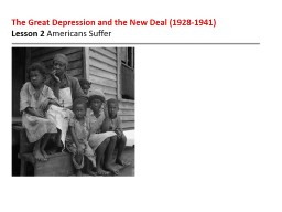 The Great Depression and the New Deal (1928-1941)