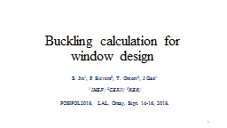 Buckling calculation for window design