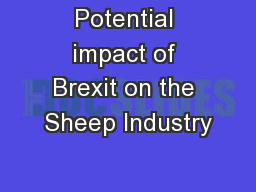 Potential impact of Brexit on the Sheep Industry
