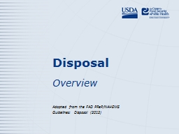 Disposal PowerPoint PPT Presentation