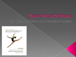 Dance Forms Software