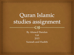 Quran Islamic studies assignment PowerPoint PPT Presentation