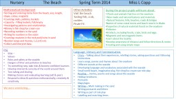 Nursery                   The Beach PowerPoint PPT Presentation