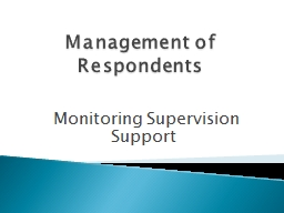 Management of Respondents