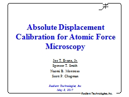 Absolute Displacement Calibration for Atomic Force Microsco