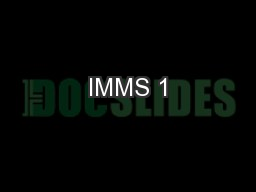 IMMS 1