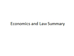 Economics and Law PowerPoint PPT Presentation