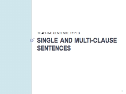 SINGLE and MULTI-Clause