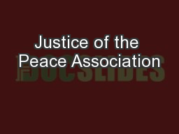 Justice of the Peace Association