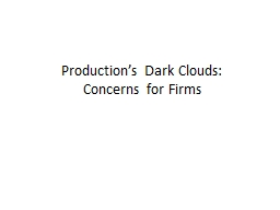 Production's Dark Clouds
