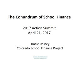 The Conundrum of School Finance PowerPoint PPT Presentation