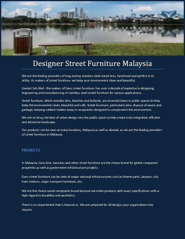 Park Seats Benches Malaysia