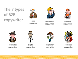 The 7 types of B2B copywriter