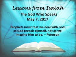 Lessons from Isaiah