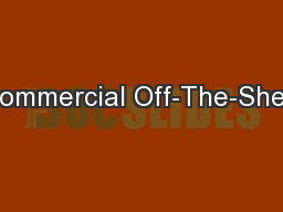 Commercial Off-The-Shelf