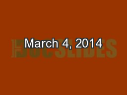 March 4, 2014