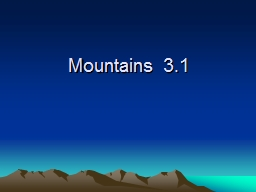 Mountains 3.1