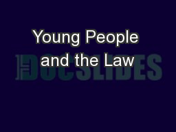 Young People and the Law