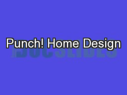 Punch! Home Design