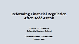 Reforming Financial Regulation