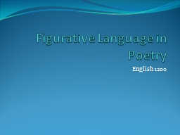 Figurative Language in Poetry