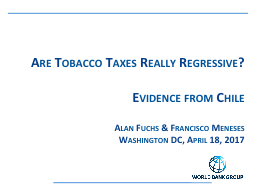 Are Tobacco Taxes Really Regressive?