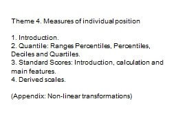 Theme 4. Measures of individual position