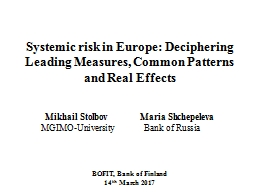 Systemic risk in Europe: Deciphering Leading Measures, Comm