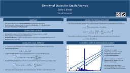 Density of States for Graph Analysis PowerPoint PPT Presentation