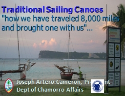 Traditional Sailing Canoes
