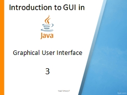 Introduction to GUI in