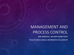 Management and Process Control