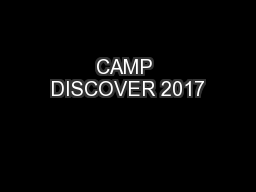 CAMP DISCOVER 2017