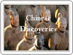 Chinese Discoveries