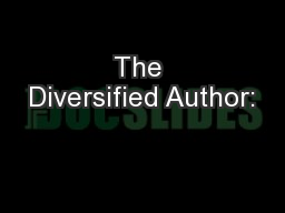 The Diversified Author: