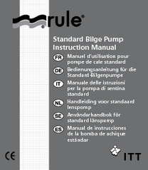 Standard Bilge Pump Instruction Manual Manuel dutilisa
