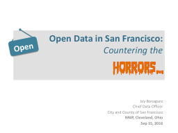 Open Data in San Francisco:
