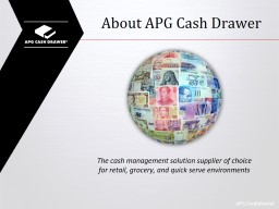 About APG Cash Drawer PowerPoint PPT Presentation