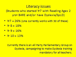 Literacy issues