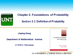 Chapter 2. Foundations of Probability