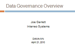 Data Governance Overview PowerPoint PPT Presentation