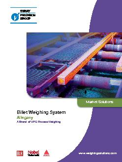 Billet Weighing System Allegany A Brand of VPG Process