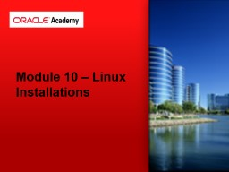 Module 10 – Linux Installations