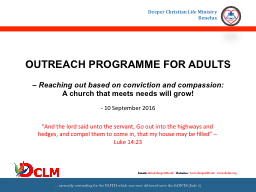 OUTREACH PROGRAMME FOR ADULTS PowerPoint PPT Presentation