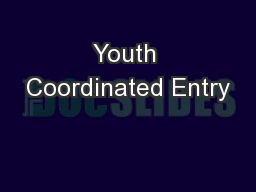 Youth Coordinated Entry