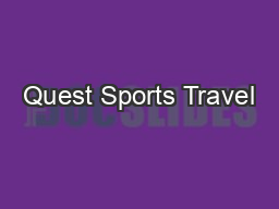 Quest Sports Travel