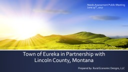 Town of Eureka in Partnership with Lincoln County, Montana